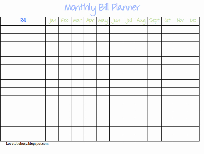 Excel Spreadsheet for Paying Monthly Bills Make A