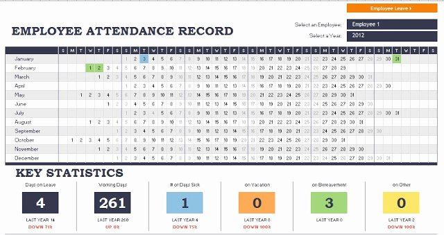 Excel Templates Free Download Employee attendance Record