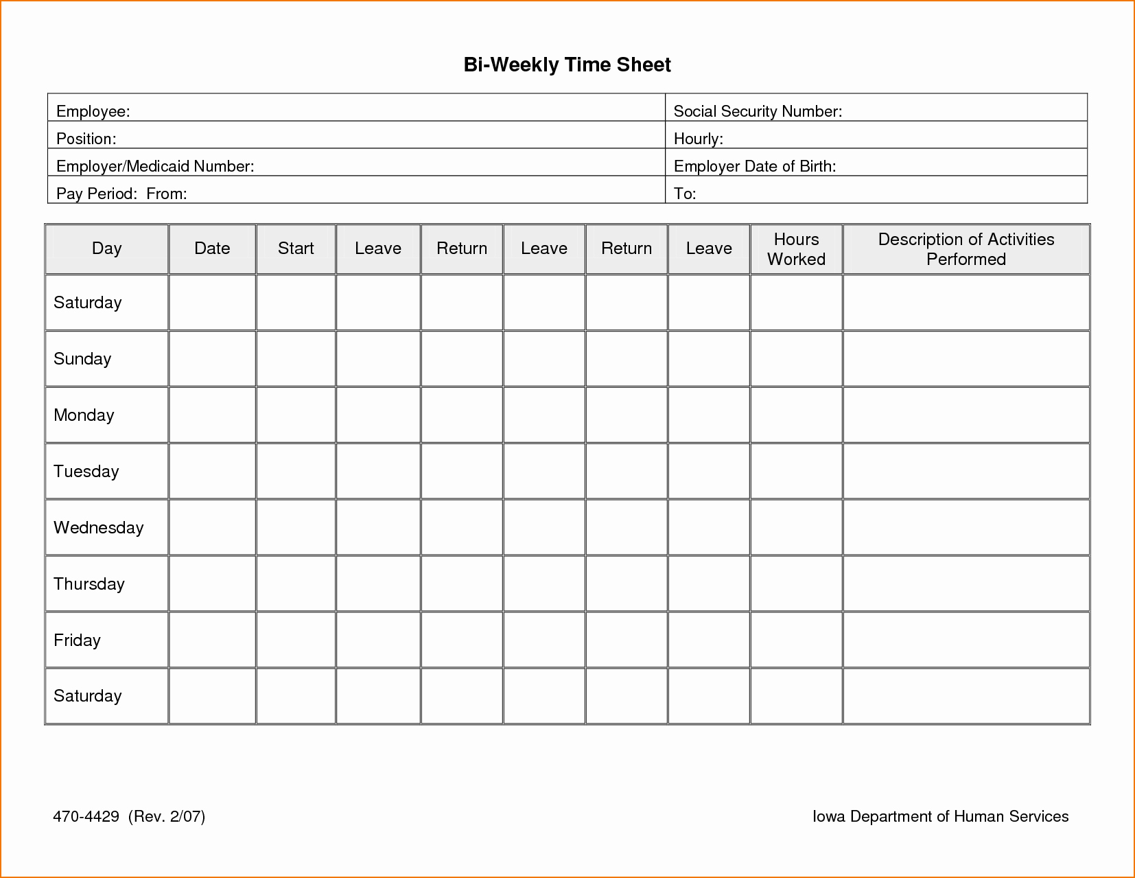 Excel Timesheet Template with formulas Time Spreadsheet