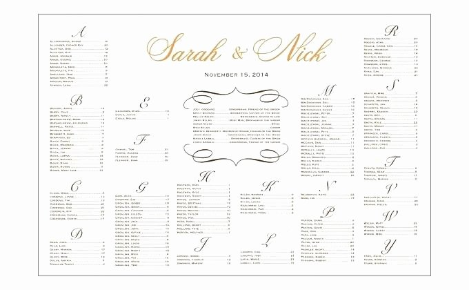 Excel Wedding Seating Chart Template