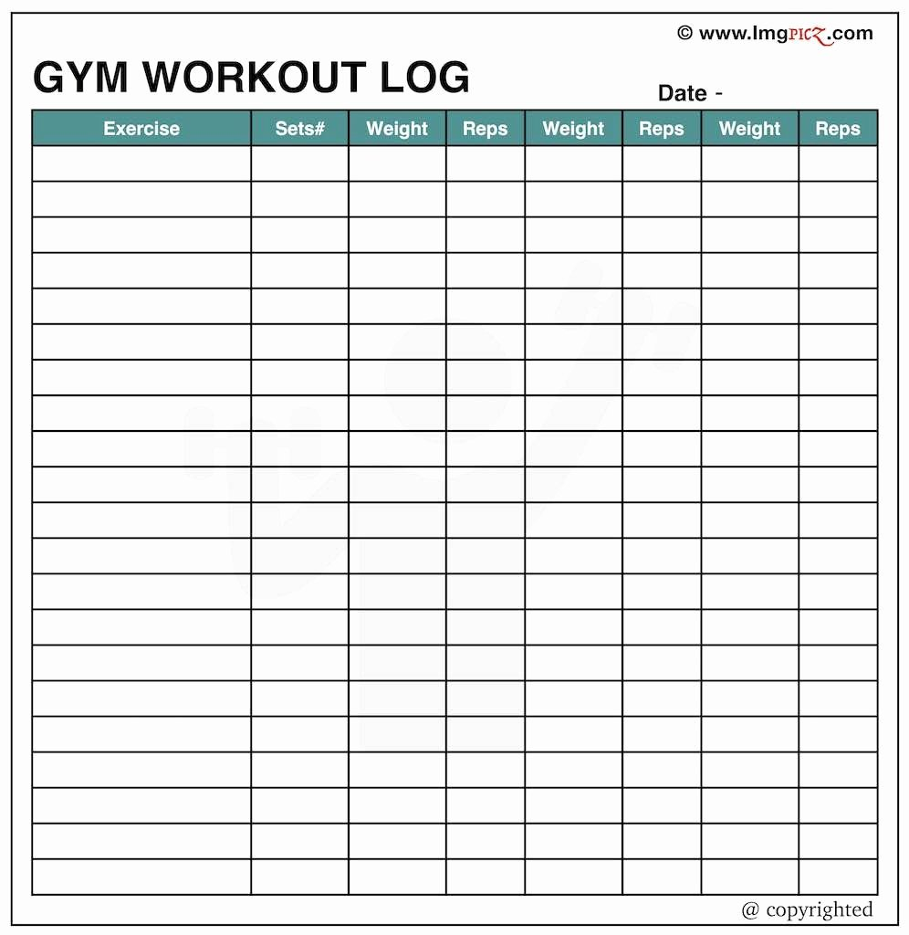 Excel Workout Spreadsheet