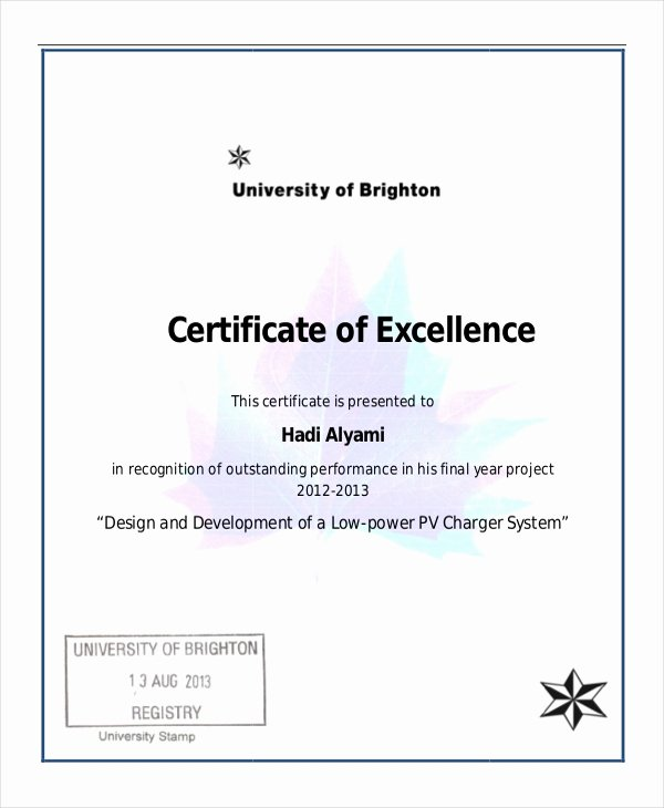 Excellence Certificate Template 16 Free Word Pdf Psd