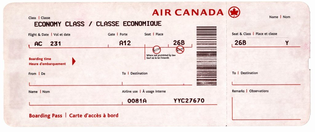 Excellent Boarding Pass Air Ticket Template Example with