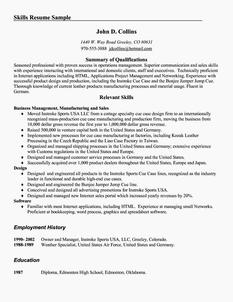 Excellent Munication Skills Resume