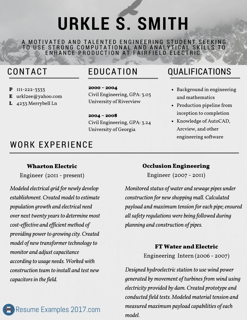 Excellent Resume Examples 2017 Best Resume Examples 2017