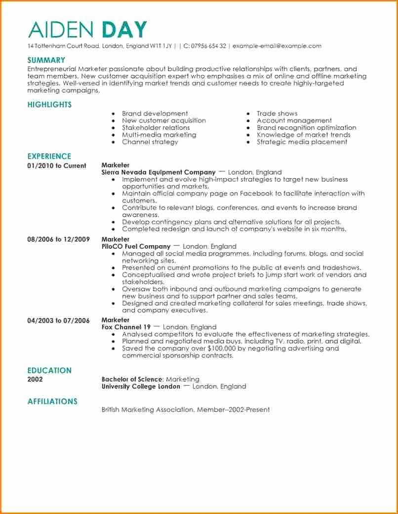 Excellent Resume Examples Luxury Examples Resumes Best
