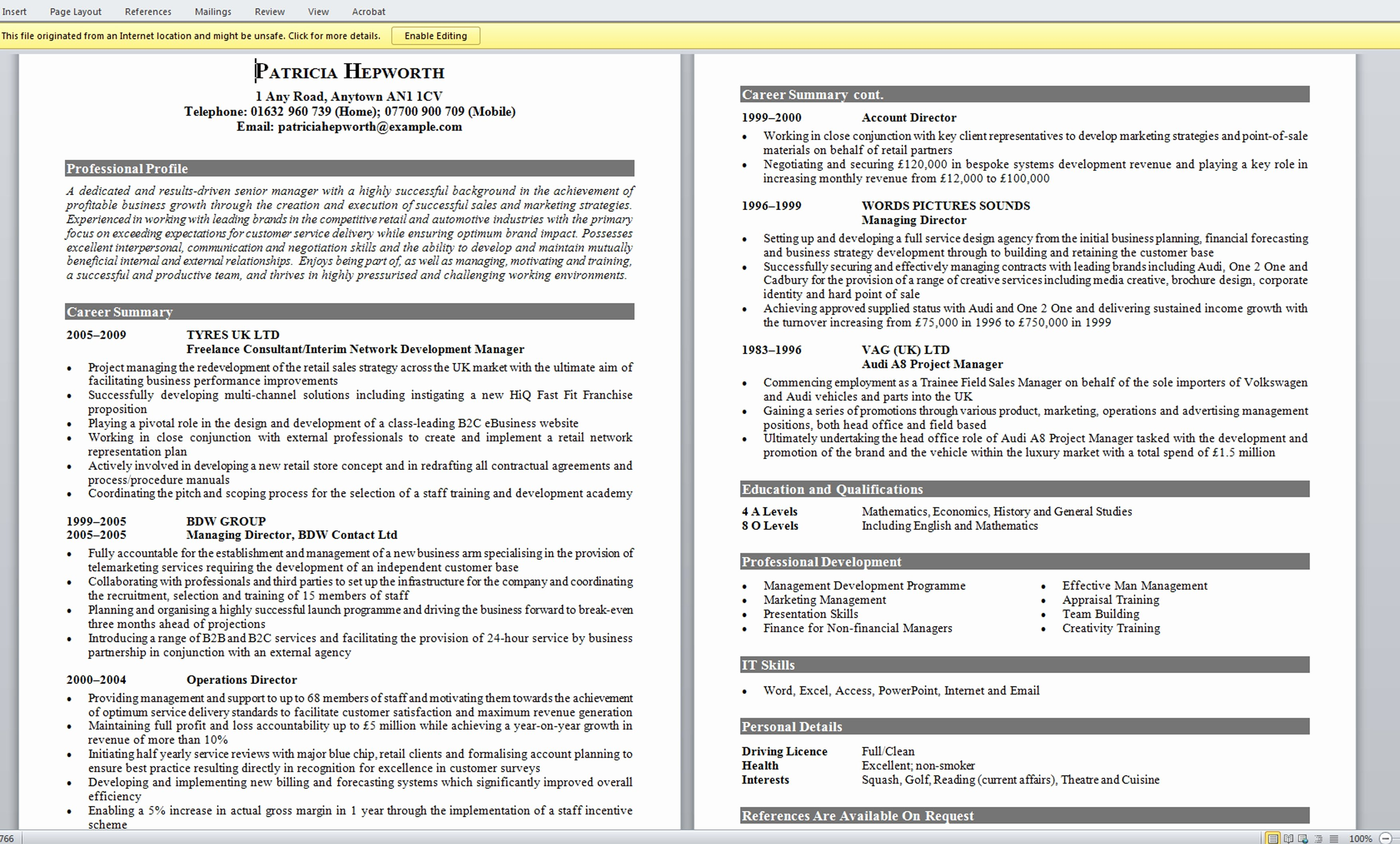 Excellent Resume Examples Resume Template Easy