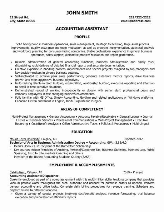 Executive assistant Resume Bullet Points Inspirational