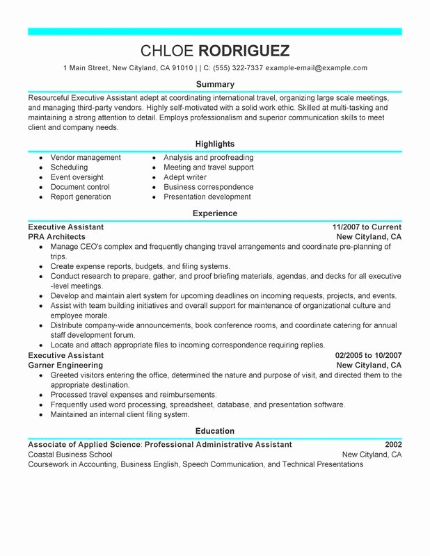 Executive assistant Resume Examples Created by Pros
