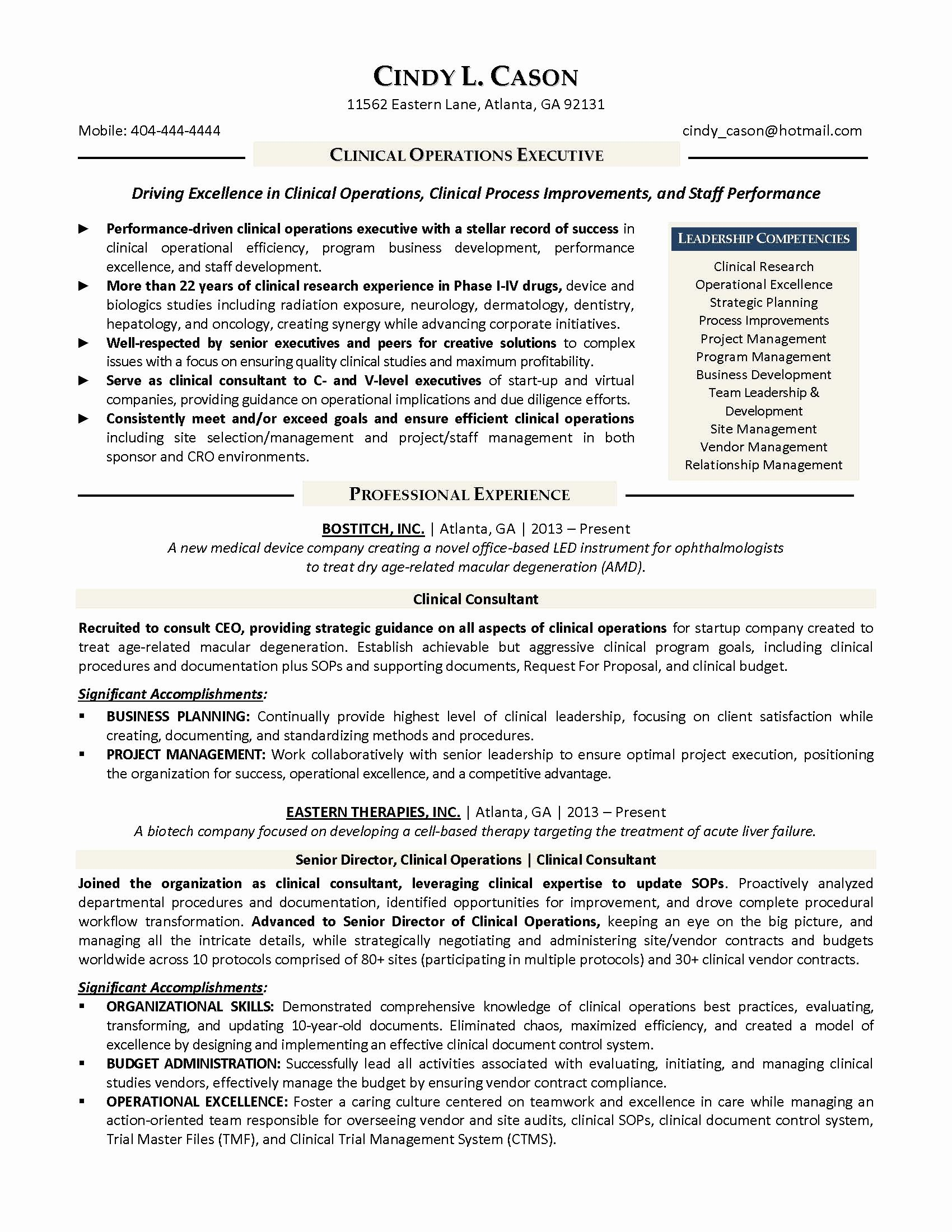 Executive Resume It Director Bongdaao