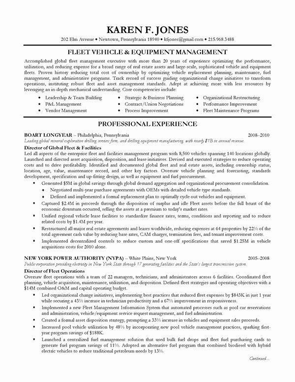 Executive Resume Sample Operations Management On Behance