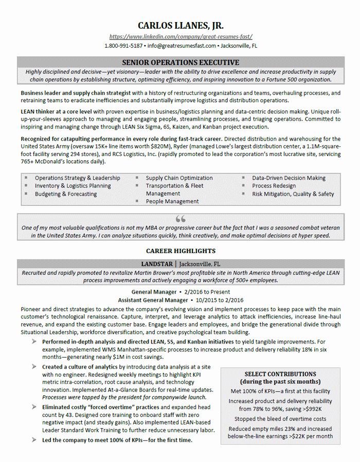 Executive Resume Samples