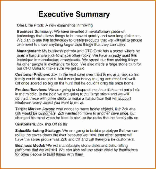 Executive Summary Sample