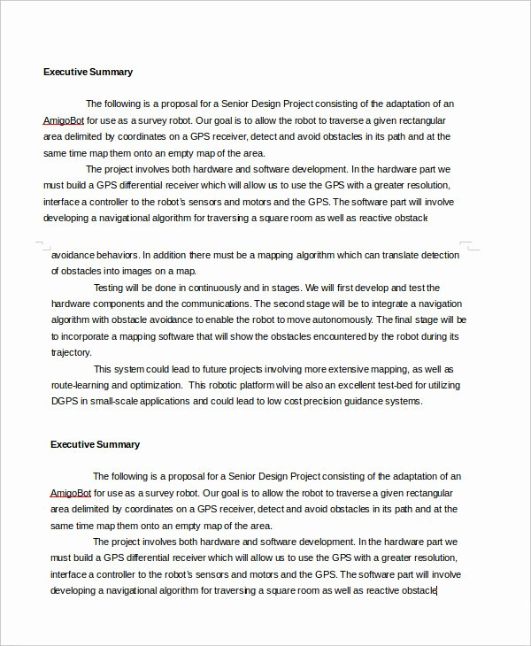 Executive Summary Template 8 Free Word Pdf Documents