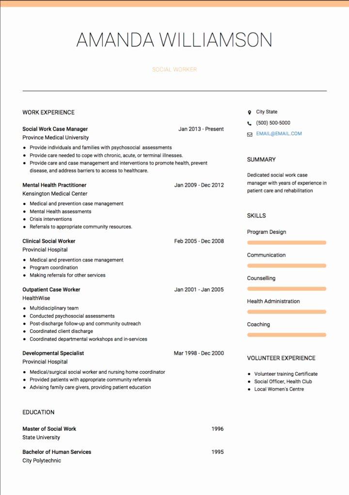 Exemples social Work De Cv Et Des échantillons De Cv En Direct