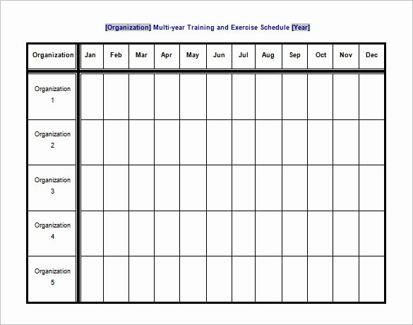 Exercise Schedule Template – 7 Free Word Excel Pdf