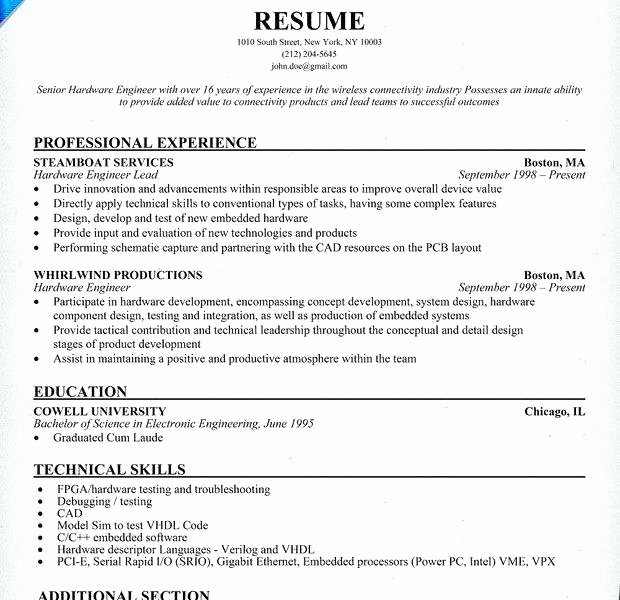 Experience Resume Sample for software Engineer