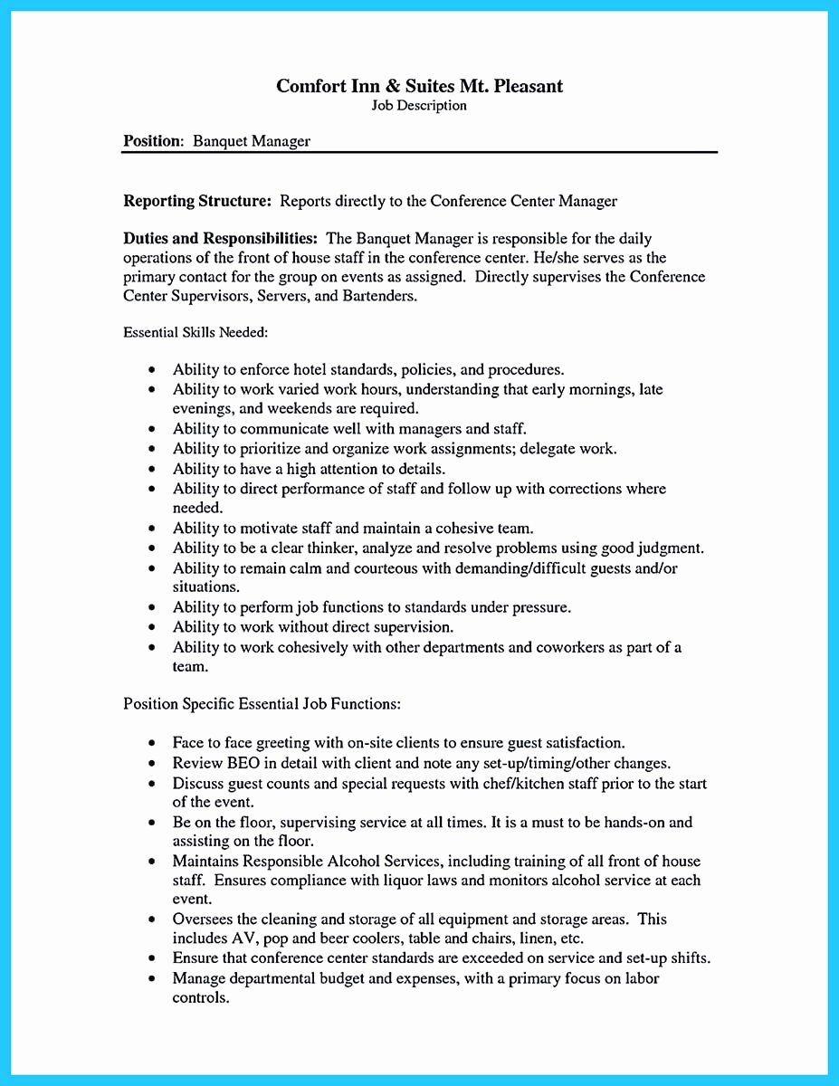 Expert Banquet Server Resume Guides You Definitely Need