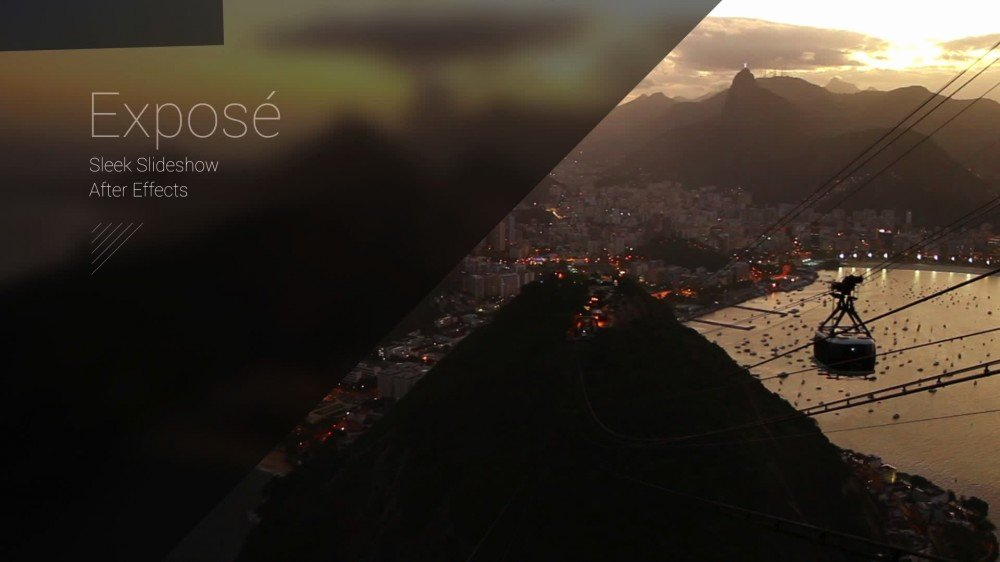 Exposé Modern Slideshow after Effects Template