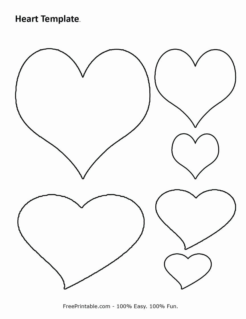 Extra Heart Template Printable Templates Data