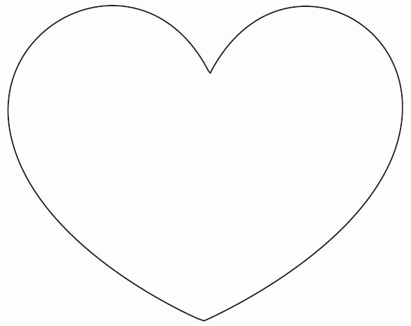 Extra Printable Heart Template to Pin On