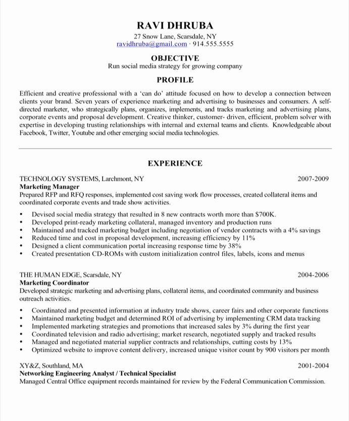 Extreme Resume Makeover social Media Resume