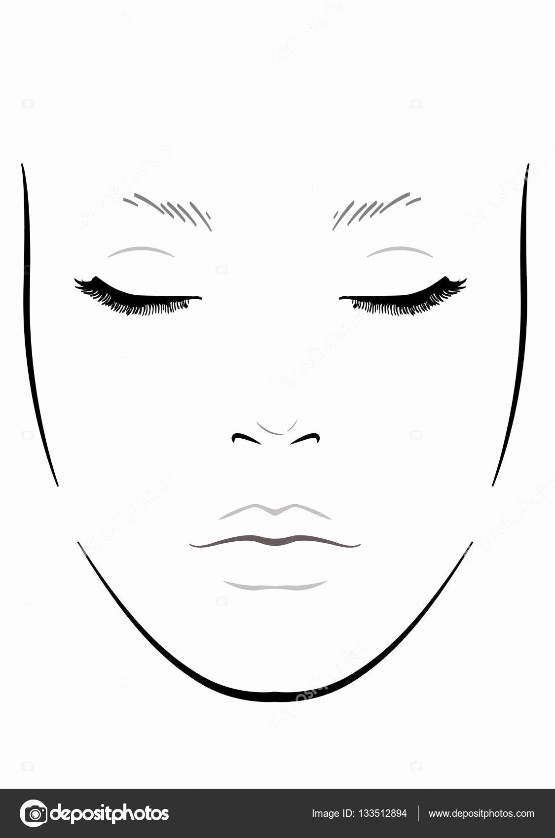 Face Chart for Makeup Artists