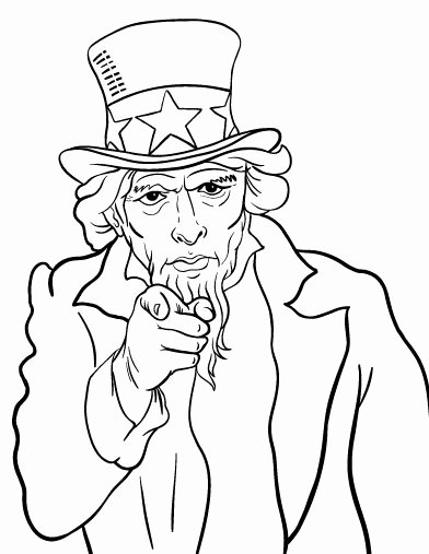 Face Uncle Sam Coloring Page Coloring Pages