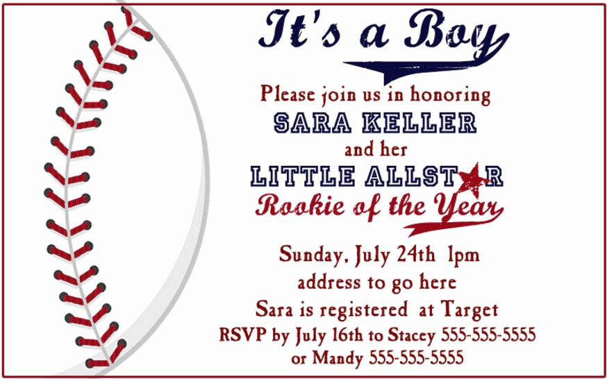 Facts About Baseball themed Baby Shower