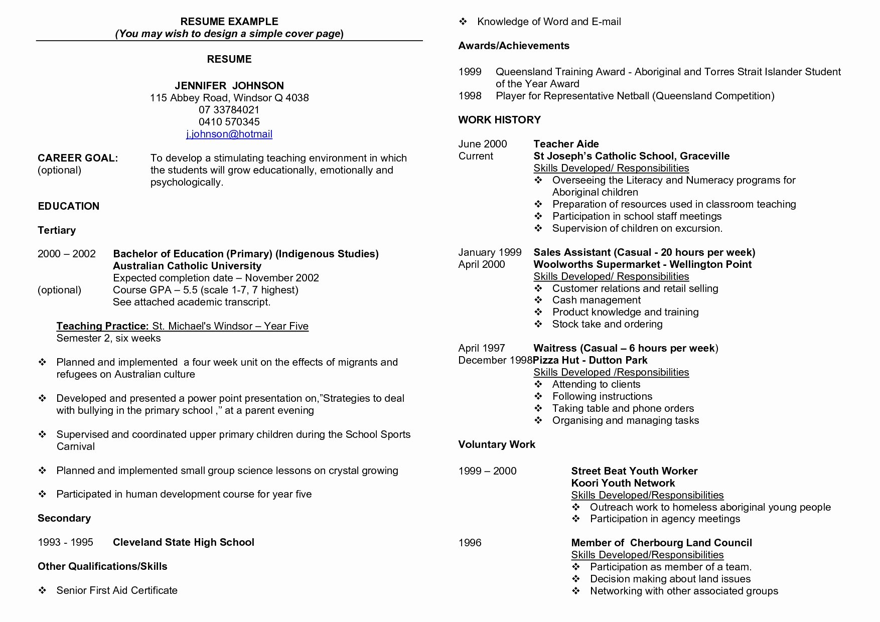 Fair Resume Key Achievements Examples for Resume Ac