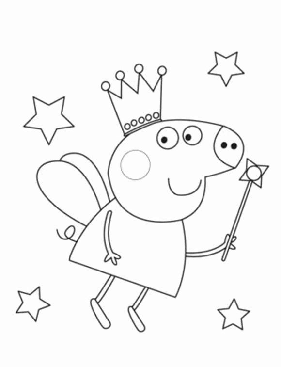 Fairy Peppa Pig Coloring In Pages Peppa