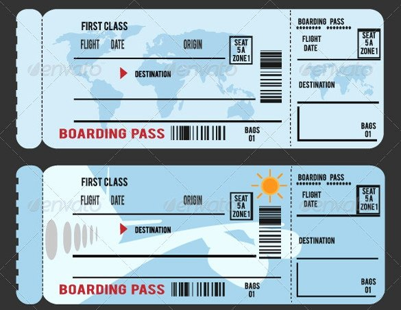 Fake Boarding Pass Template Invitation Template