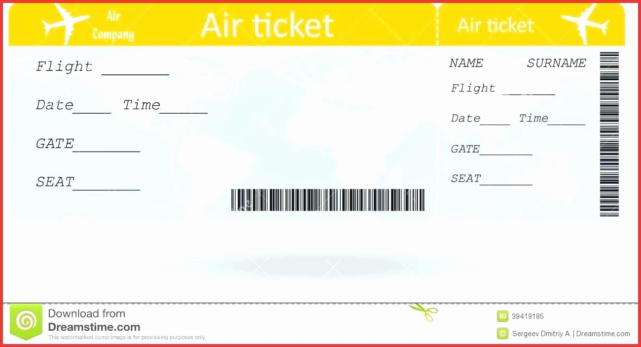 Fake Boarding Pass Template