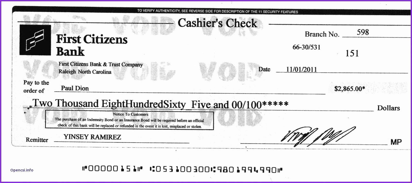 Fake Cashiers Check Template Unique Money order Vs Cashier