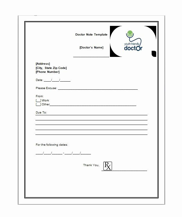 Fake Doctors Note Template – 27 Free Word Pot Pdf
