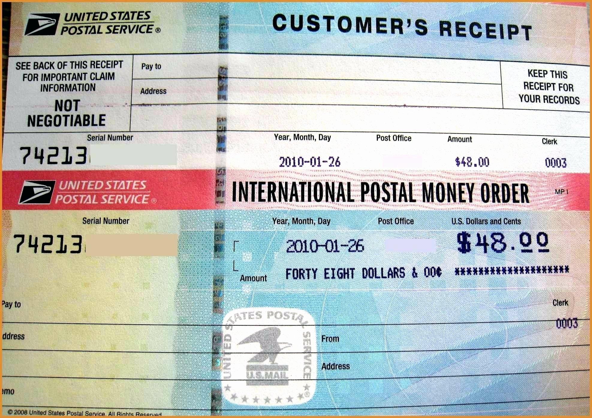 Fake Money order Template