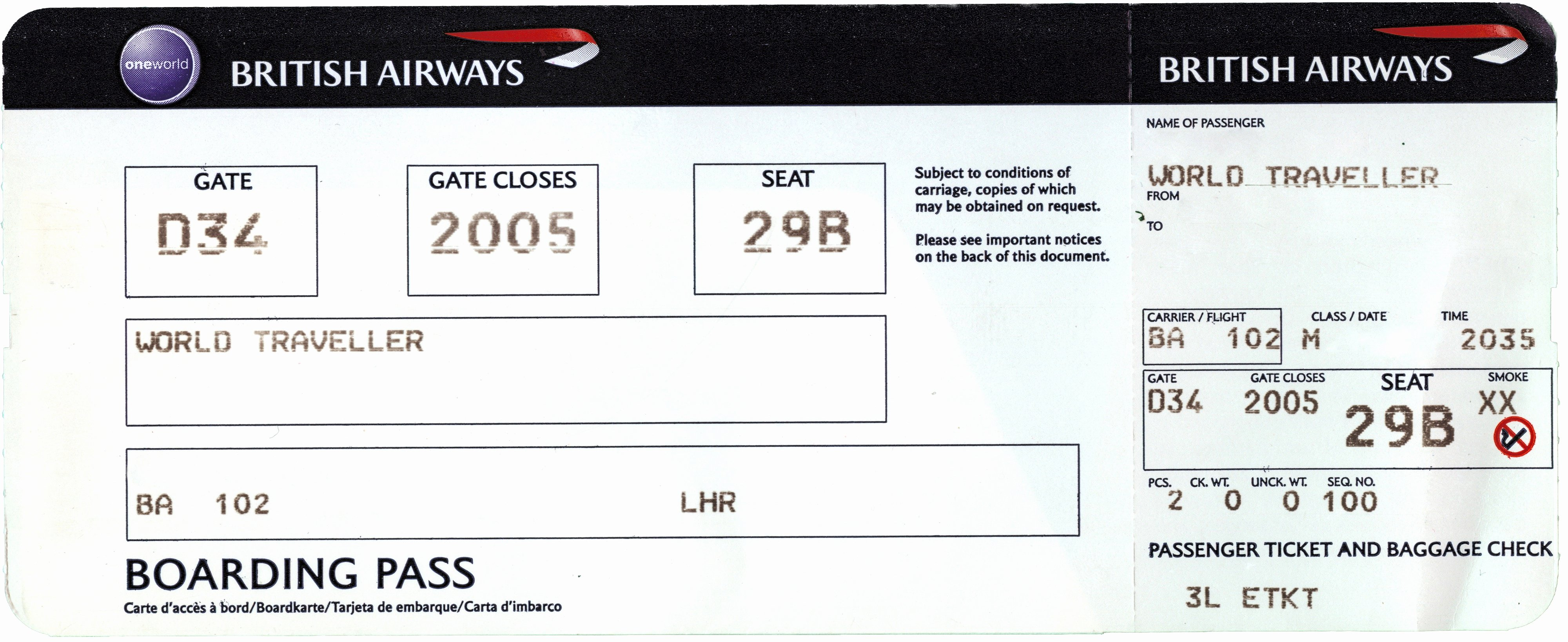 Fake Plane Ticket Template Portablegasgrillweber