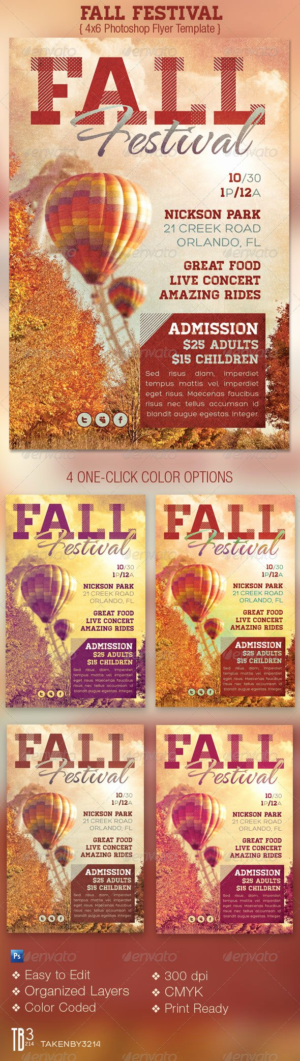 Fall Festival event Flyer Template by Godserv2