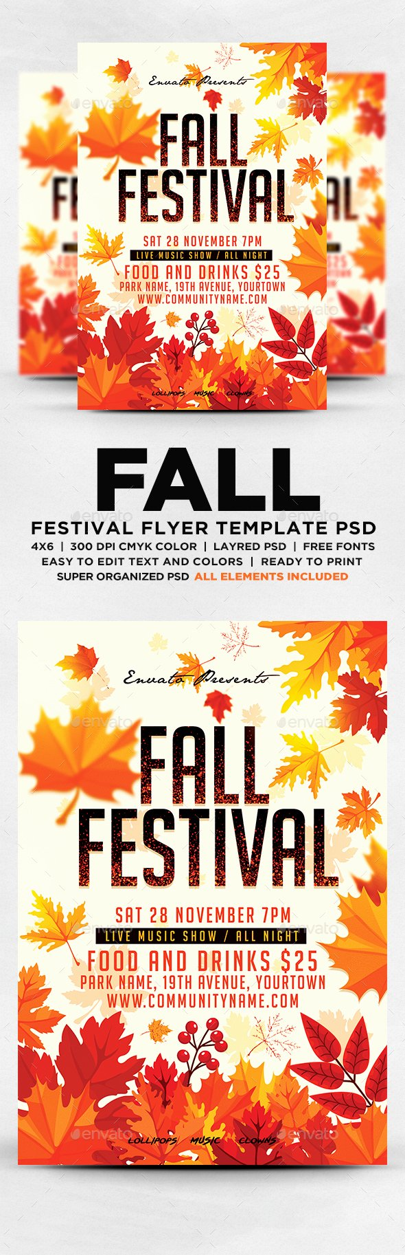 Fall Festival Flyer by Designblend