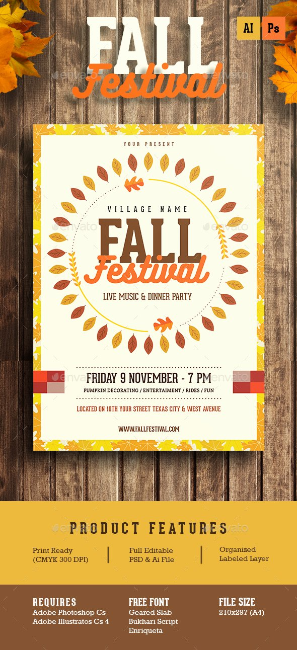 Fall Festival Flyer by Guuver