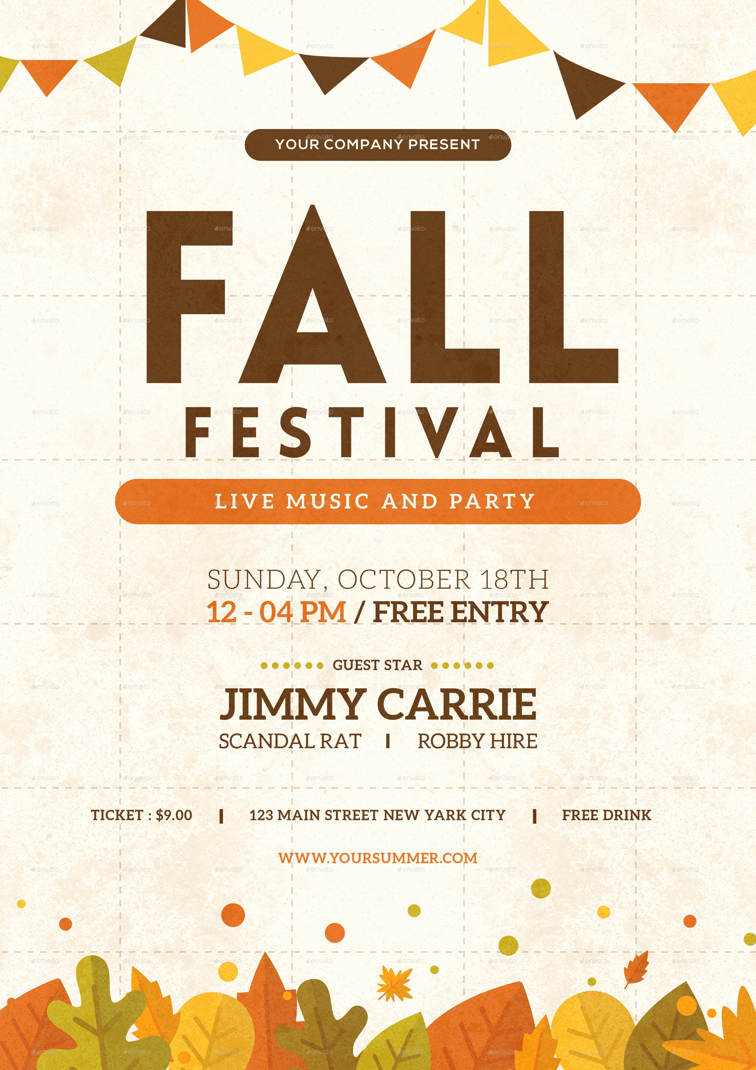Fall Festival Flyer by tokosatsu