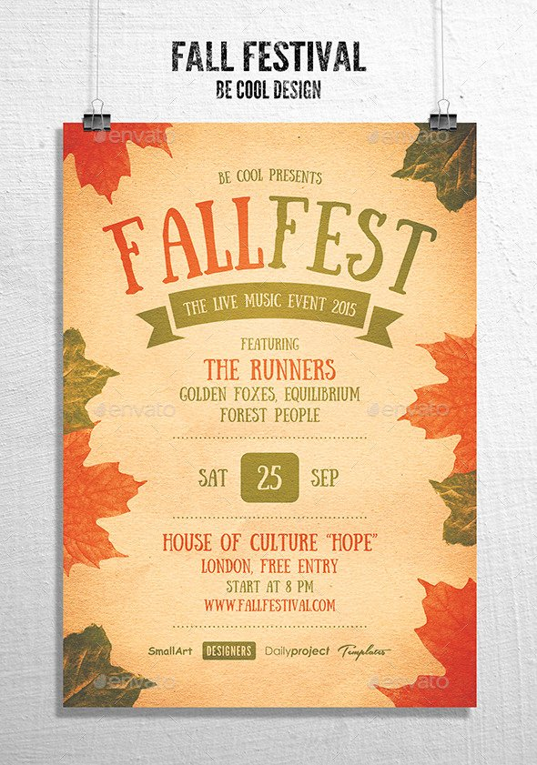 Fall Festival Flyer Poster by Be Cool