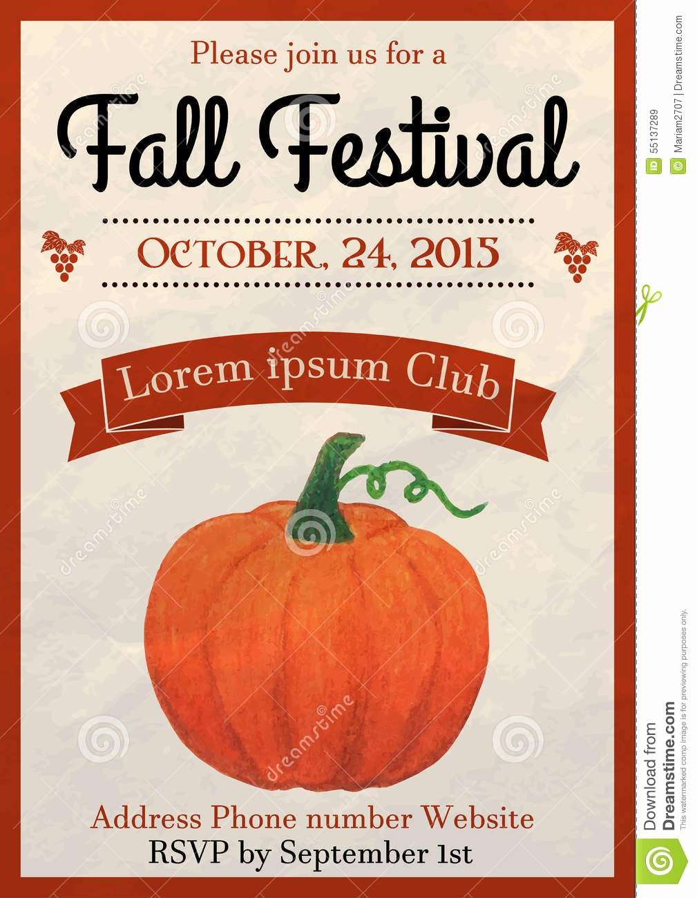 Fall Festival Flyer Stock Illustration Illustration Of
