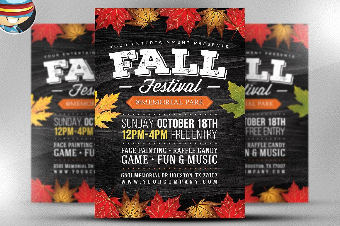 Fall Festival Flyer Template 2 Flyer Templates