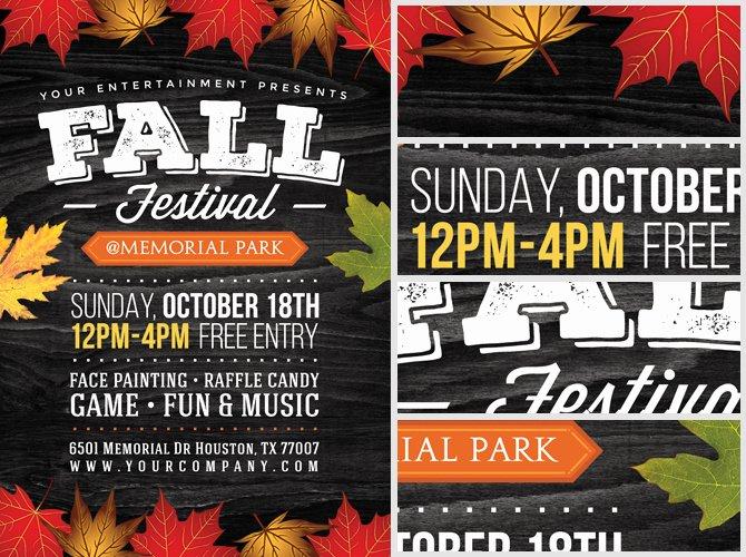Fall Festival Flyer Template 2 Flyerheroes