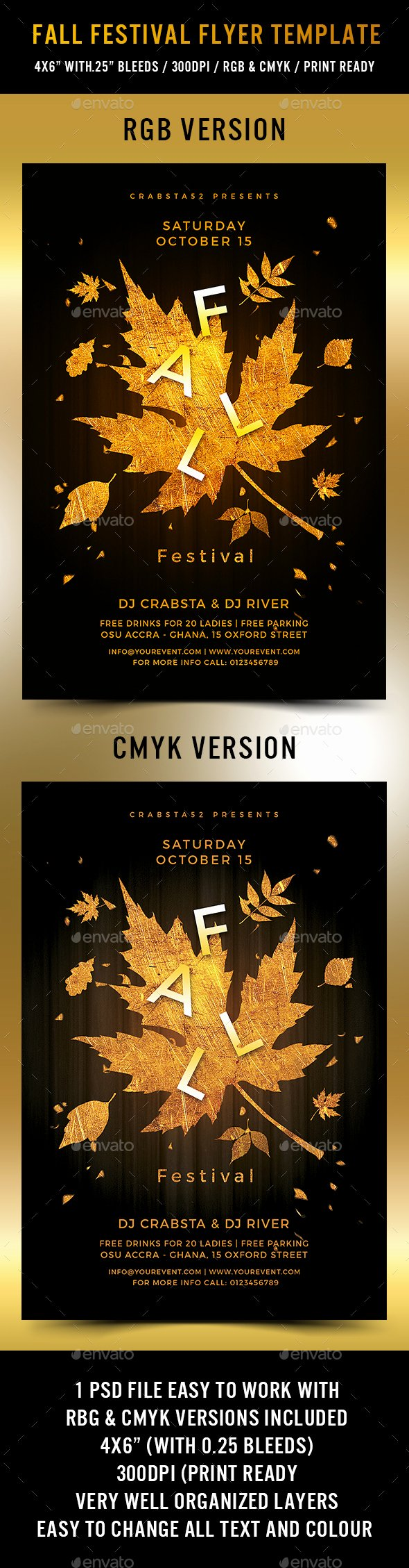 Fall Festival Flyer Template by Crabsta52