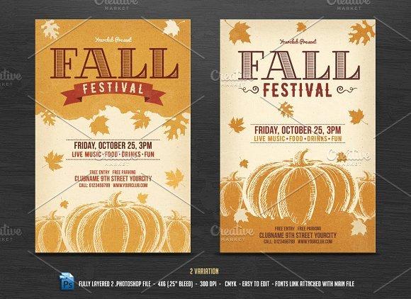 Fall Festival Flyer Template Flyer Templates Creative