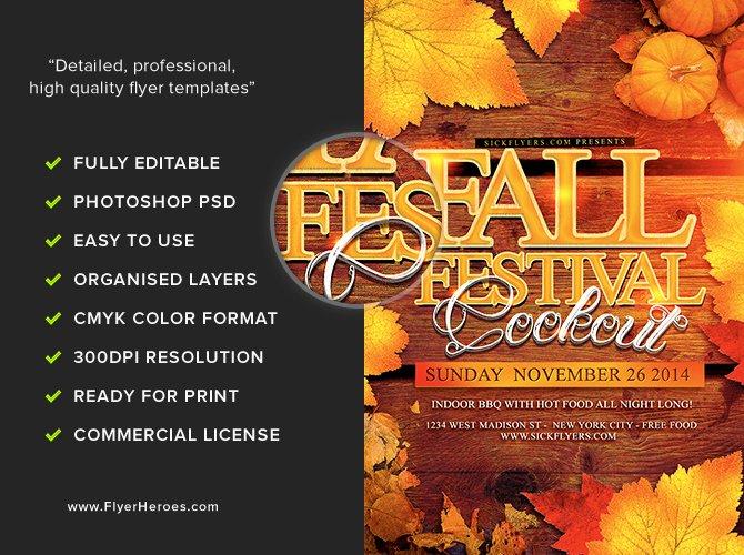 Fall Festival Flyer Template Flyerheroes