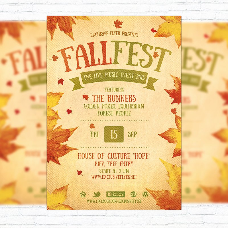 Fall Festival Flyer Template Printable Flyers In Word and