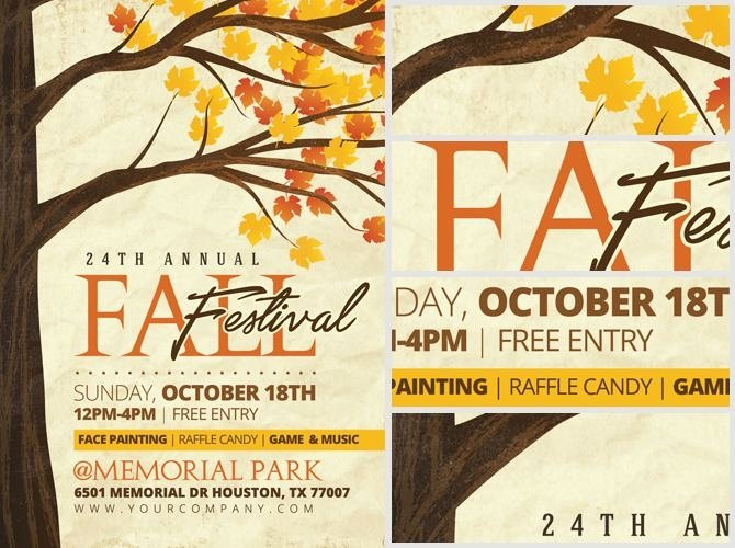 Fall Festival Flyer Templates Free Ktunesound